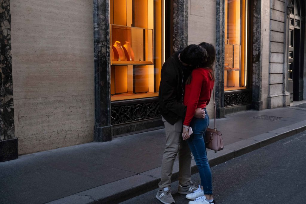 Lovers in street photography