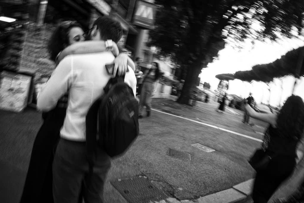Sometimes blurry is better: street photography